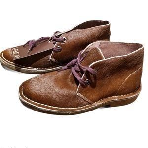 Unisex Calf-Hair Chukka Desert Boot Size 7.5/9 Wmn